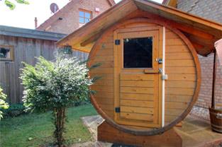 Foto Fass-Sauna